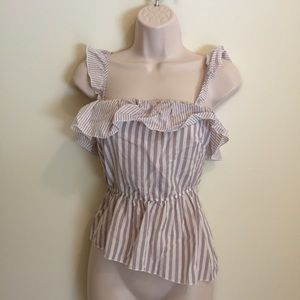 Victoria's Secret women's sleeveless ruffle blouse